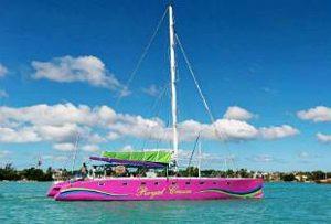 Gabriel Island in catamaran